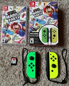 Super Mario Party (Nintendo Switch2018)w Neon Green and Neon Yellow Joy-Con's!