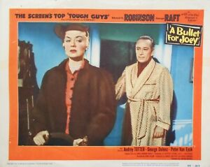 A BULLET FOR JOEY Lobby Card #7 George Raft Audrey Totter Film Noir 1955