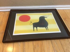Original Signed Keith De Carlo Mid Century Framed Lithograph BULL limited $295.00
