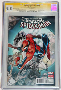 THE AMAZING SPIDER-MAN #700 CGC 9.8 SS 3X LEE DELGADO RAMOS VARIANT~DEATH OF ASM