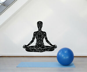 Vinyl Wall Decal Yoga Lotus Pose Meditation Om Zen Relaxation Stickers g621