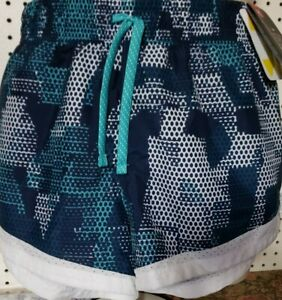 Girls Kids Youth Under Armour Shorts NEW Heat Gear Loose Size Youth XL Blue Teal
