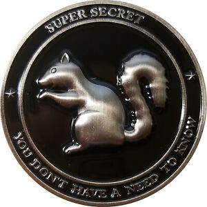 SECRET SQUIRREL ALIEN TECHNOLOGY CHALLENGE COIN ROSWELL AREA 51  28