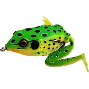 Lunkerhunt Lunker Frog Leopard Fishing Lure Carded Pack