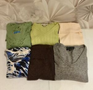 100% Cashmere Craft Cutter Flawed Sweaters Unfelted Lot of 6