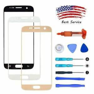 For Samsung Galaxy S7 Screen Glass Replacement Lens+Repair Tool Kit+LOCA UV Glue