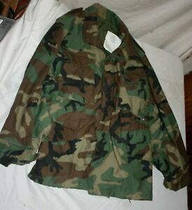 COLD WEATHER DLA100-82-C-0673 CAMOUFLAGE 1982 MILITARY FIELD COAT wLINER