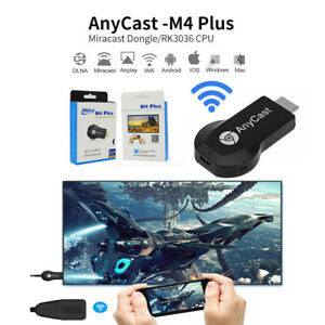 AnyCast M4 Plus WiFi Display Dongle HDMI Media Player Streamer TV Cast Stick US