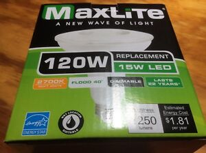 Maxlite LED Outdoor Flood Light Bulb weatherproof 120 watt