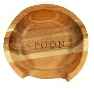 Hearth and Hand with Magnolia - Acacia Wood Spoon Rest - Kitchen Utensil Holder