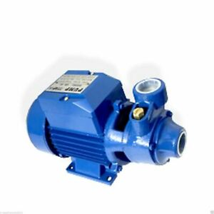 Water Pump 1 2HP Electric Clear Transfer Centrifugal Pond Pool Farm