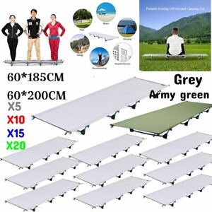 Folding Camping Bed Outdoor Portable Military Cot Sleeping Hiking Travel LOT BT
