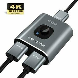HDMI Splitter GANA 4k Switch Bidirectional 2 Input to 1 Output or 1 in to 2