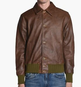 Levis Vintage Clothing (LVC) Leather Jacket Made In Italy size M NEW With Tags