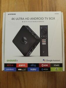 Jetstream AGT418 4K Ultra HD Android TV Box - Black No Remote