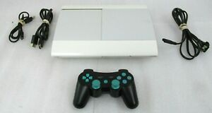 Sony Playstation 3 PS3 Super Slim CECH-4001C (White) 500GB Game System Console