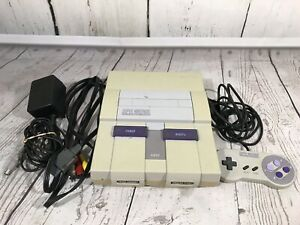 Super Nintendo Entertainment System SNES Console With Controller Tested!