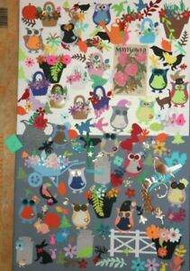 Assorted Ready to use  Scrapbooking and die cut embellishments LOT # Z Cards DIY