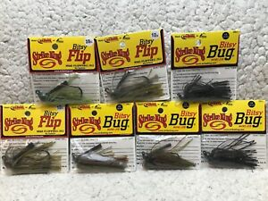 (7) Strike King Bitsy Bugs Mini Jigs Assorted Sizes And Colors As Pictured 18