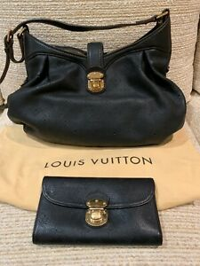 Authentic LOUIS VUITTON Mahina XS Monogram Black Leather Shoulder Bag