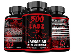 300 Labz BARBARIAN Legendary Mass Stack, Super Potency (Sealed) FAST SHIP