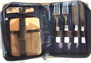 Bamboo CHEESE Cutting Board Picnic Set Cheese Knives Forks Corkscrew NEW