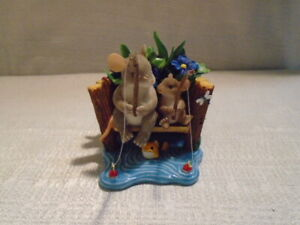 Charming Tails Your The Best Hook Line and Sinker Mouse Fishing Figurine 89136