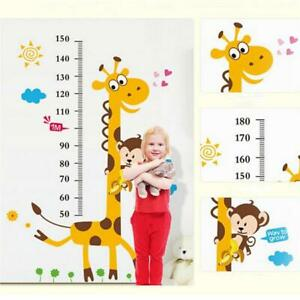 Giraffe Sticker Wall Height Measure Chart Decal Kids Room Removable Art SS3