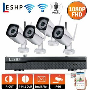 4CH Wireless 1080P NVR HD WiFi 1080P Camera Outdoor Home CCTV Security System US