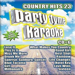 PARTY TYME KARAOKE AUDIO CD - COUNTRY HITS 23 16-song (2019) - NEW UNOPENED