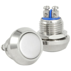 12mm Metal Boat Horn Momentary Push Button Stainless Steel Starter Switch $3.77