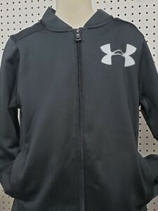 Boys Kids Youth UNDER ARMOUR Long Sleeve Full Zip Jacket NEW black Large $19.83