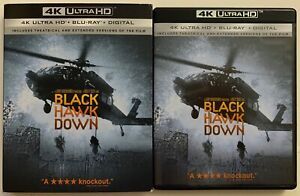 BLACK HAWK DOWN 4K ULTRA HD BLU RAY 3 DISC SET + SLIPCOVER SLEEVE FREE SHIPPING