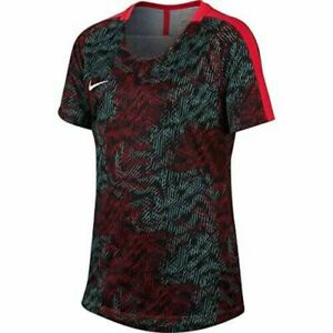 Nike Youth Girls Dry Academy Soccer Sirenred White T Shirt Size XL $14.95