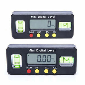 4*90° Digital Inclinometer Level Box Protractor Angle Finder Bevel Gauge Magnet $12.00