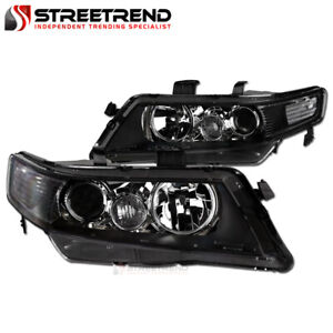 For 2004-2008 Acura Tsx Black Clear Housing Projector Headlights Corner Signal