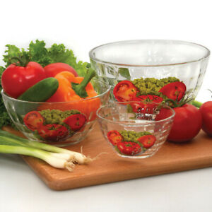 Set of 3 SALAD BOWLS with Vegetables Print. Salad Mixing Bowl 200/600/1400 ML