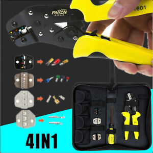 4 in 1 Pro Wire Crimper Pliers Ratcheting Terminal Crimping Save Energy Tool $27.99
