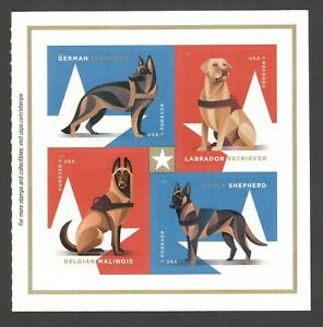 5405-08 (5408a) Military Working Dogs Block Of 4 MNH Shipping After 810