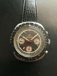 Vintage Lecoultre Stainless Steel Calculator Chronograph  Watch Valjoux 72