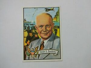 1972 Topps U.S. Presidents Dwight D. Eisenhower 34th President Card # 33