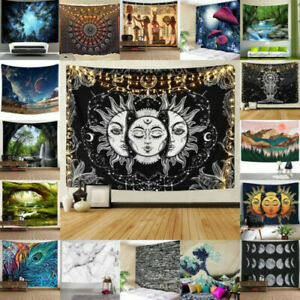USA Hippie Psychedlic Tapestry Mandala Wall Hanging Bedspread Blankets Home Deco