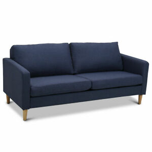 Modern Fabric Couch Sofa Love Seat Upholstered Bed Lounge Sleeper 2 Seater New