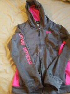 EUC Girls YXL Youth Extra Large Under Armour Storm Zip Up Hoodie