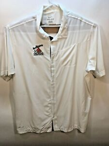 Nike dry fit shirt white 3XL button ultra light $13.50