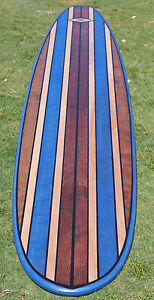 7ft Wood Surfboard Bartop Wall ART California Hawaiian Decor Shower Marine Grade