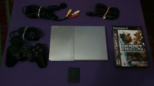 Silver PS2 Slim Bundle SCPH-90001 *TESTED*