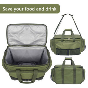 Large Insulated Fishing Cool Bag Portable Carp Fishing Lure Storage Food Case