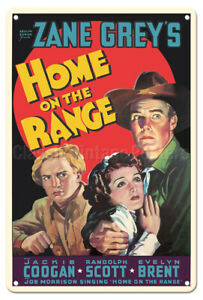Home on the Range  Jackie Coogan - 1934 Vintage Film Movie Poster Metal Tin S
