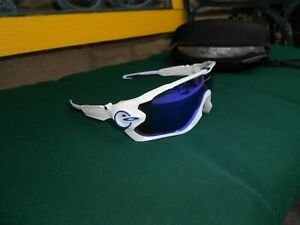 JawWhtSapp Jaw Breaker Sunglasses OO9290 White  Sapphire Rubber Arms Nose